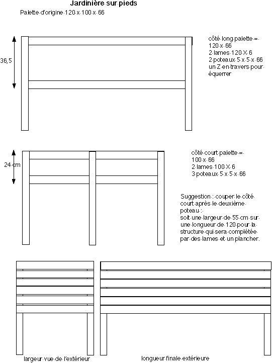 plan jardiniere palette maison design. Black Bedroom Furniture Sets. Home Design Ideas